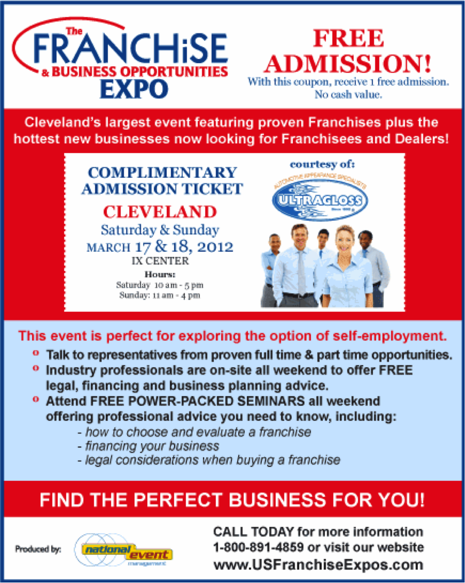 Free Entry to Franchise Expo Cleveland
